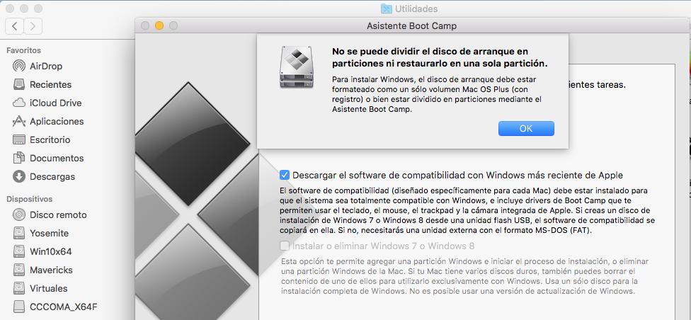 Mac] Instalar Partición Windows Sin Boot Camp   ? - jmtella